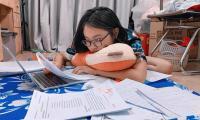 Phương Mỹ Chi nôn nóng thi tốt nghiệp THPT 2021, chuẩn bị cả tập tài liệu kỹ từng chi tiết